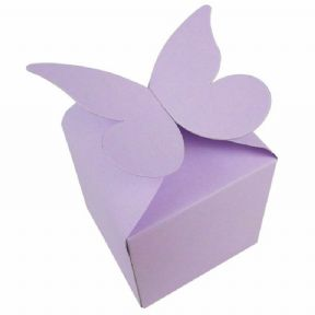 Lilac Large Butterfly Top Muffin / Cupcake Box 80mm x 80mm x 80mm